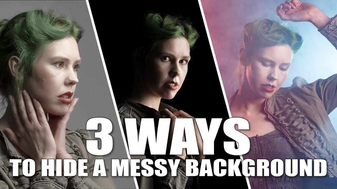 3 Ways to Hide a Messy Background | Take and Make Great Photography with Gavin Hoey - youtube