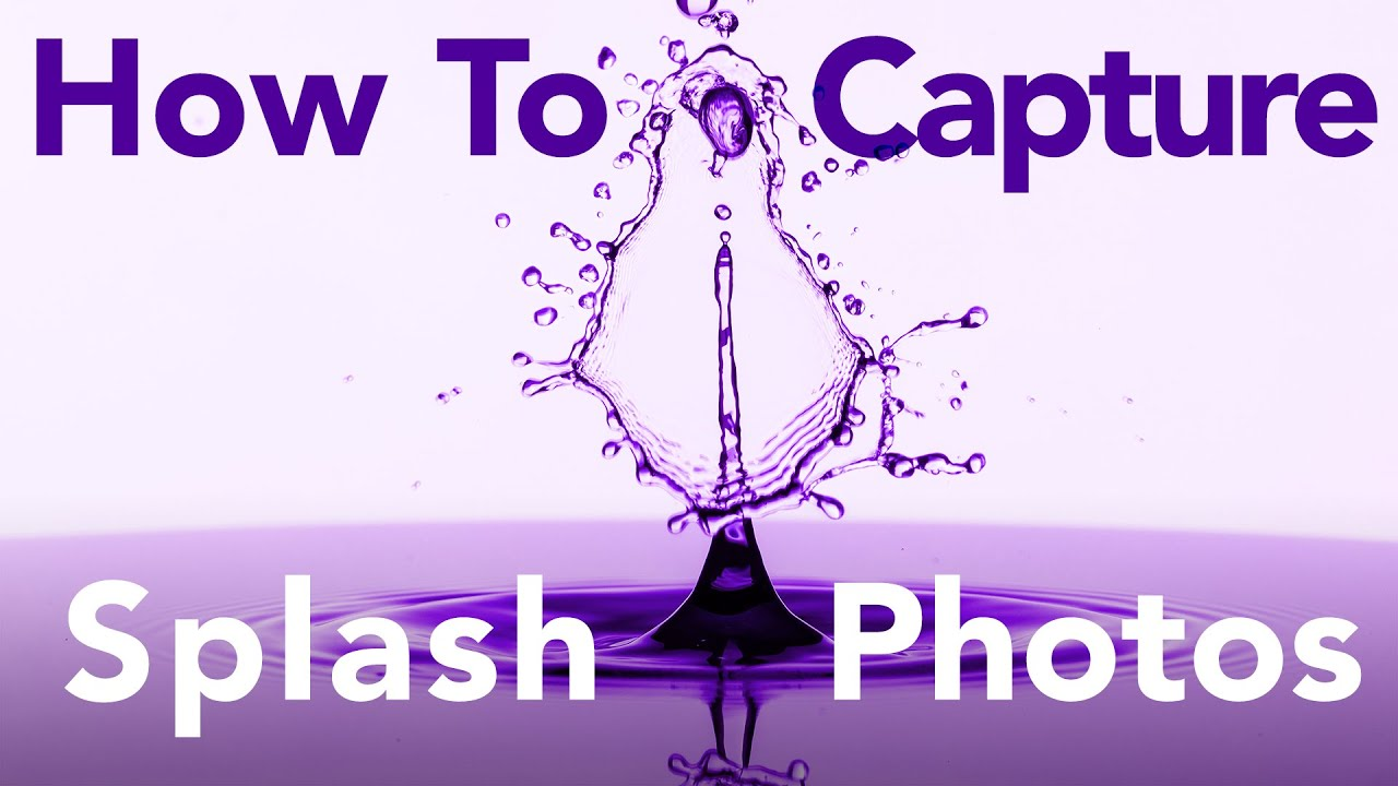 How To Capture Stunning Water Drop Photos - New Splash Kit - youtube