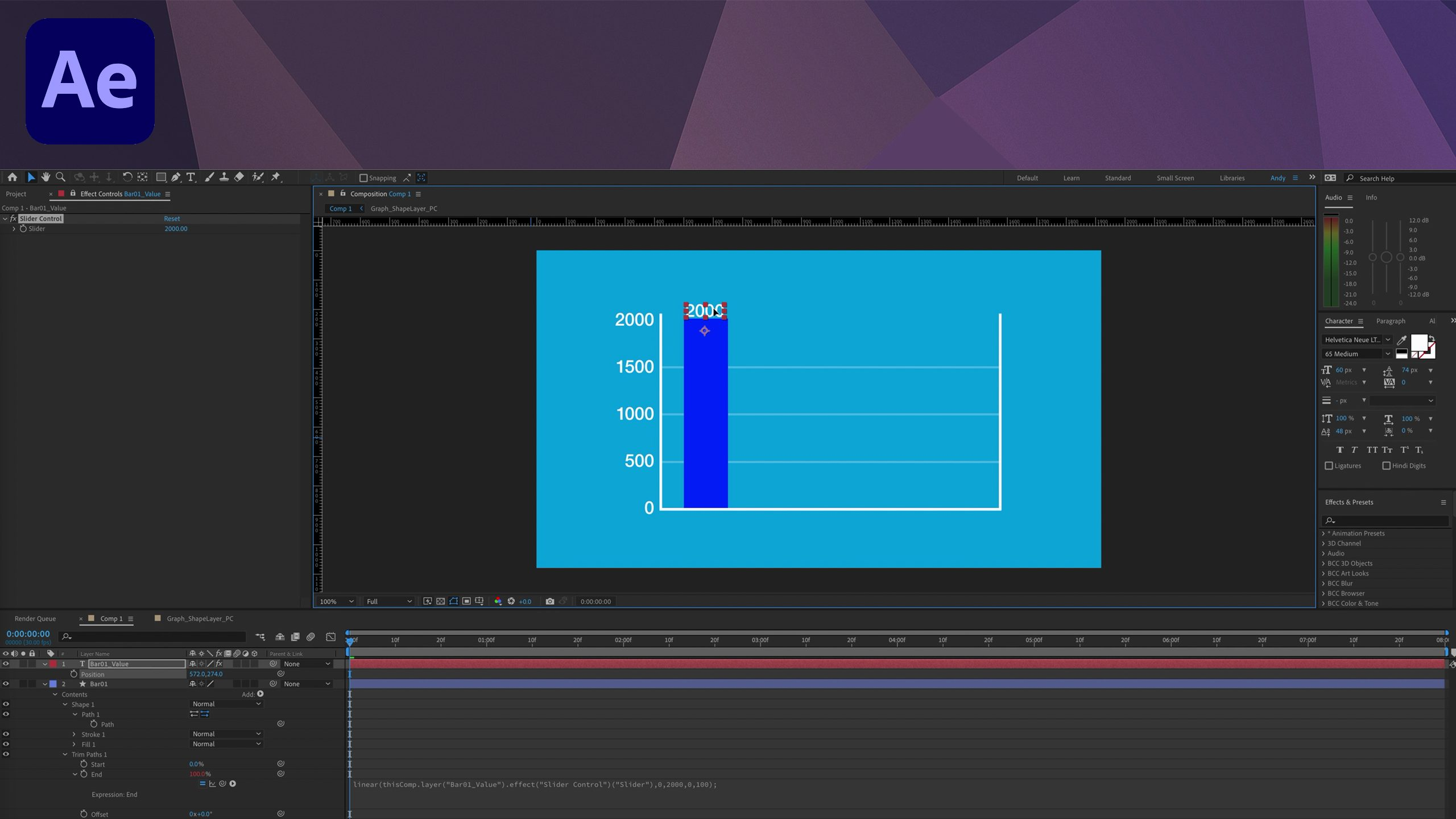 After Effects Tutorial - Linear Expression