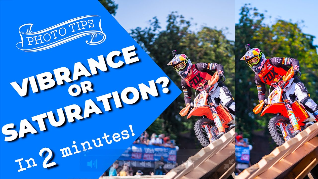 Vibrance or saturation? - Which is best for your photos - youtube
