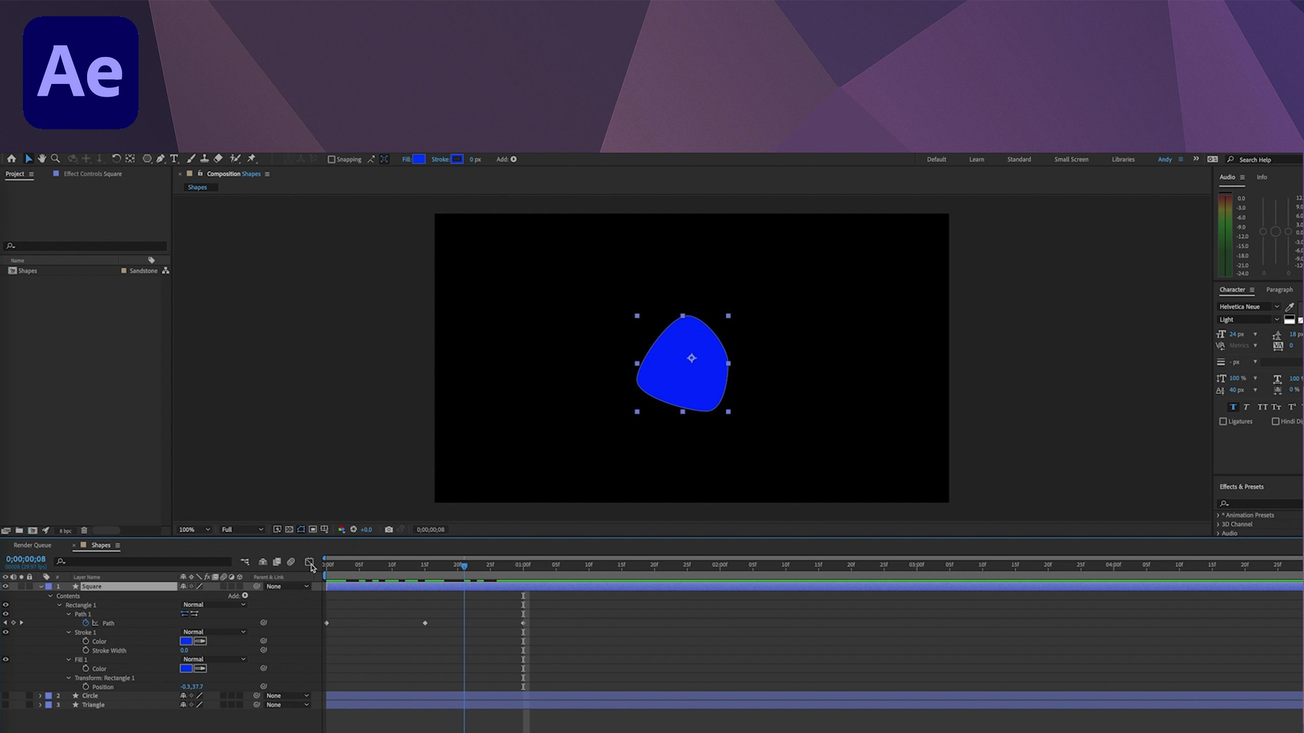 After Effects Tutorial - Morph Shape Layers