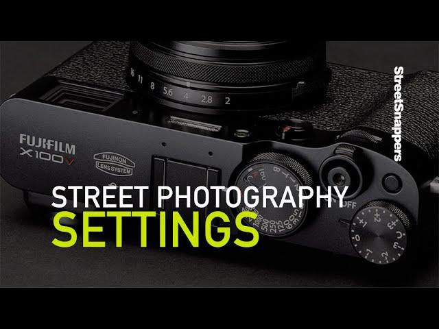 Street Photography Settings - youtube