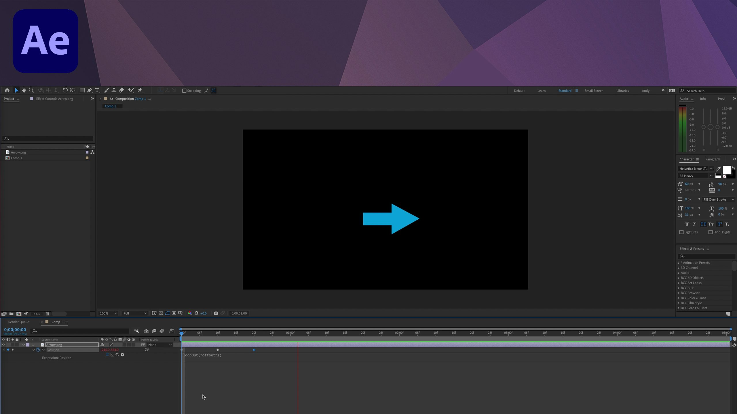 After Effects - loopOut Offset Expression