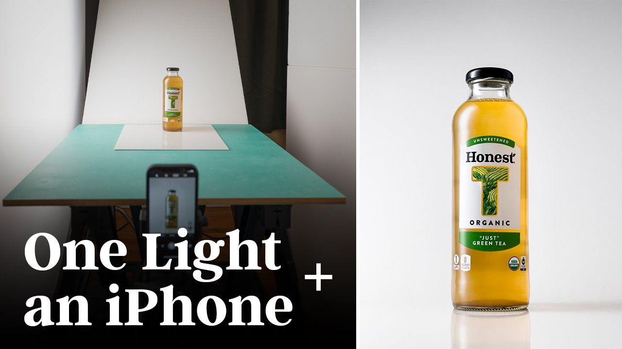 Shooting a Bottle with ONE Continuous Light and a Smartphone - youtube