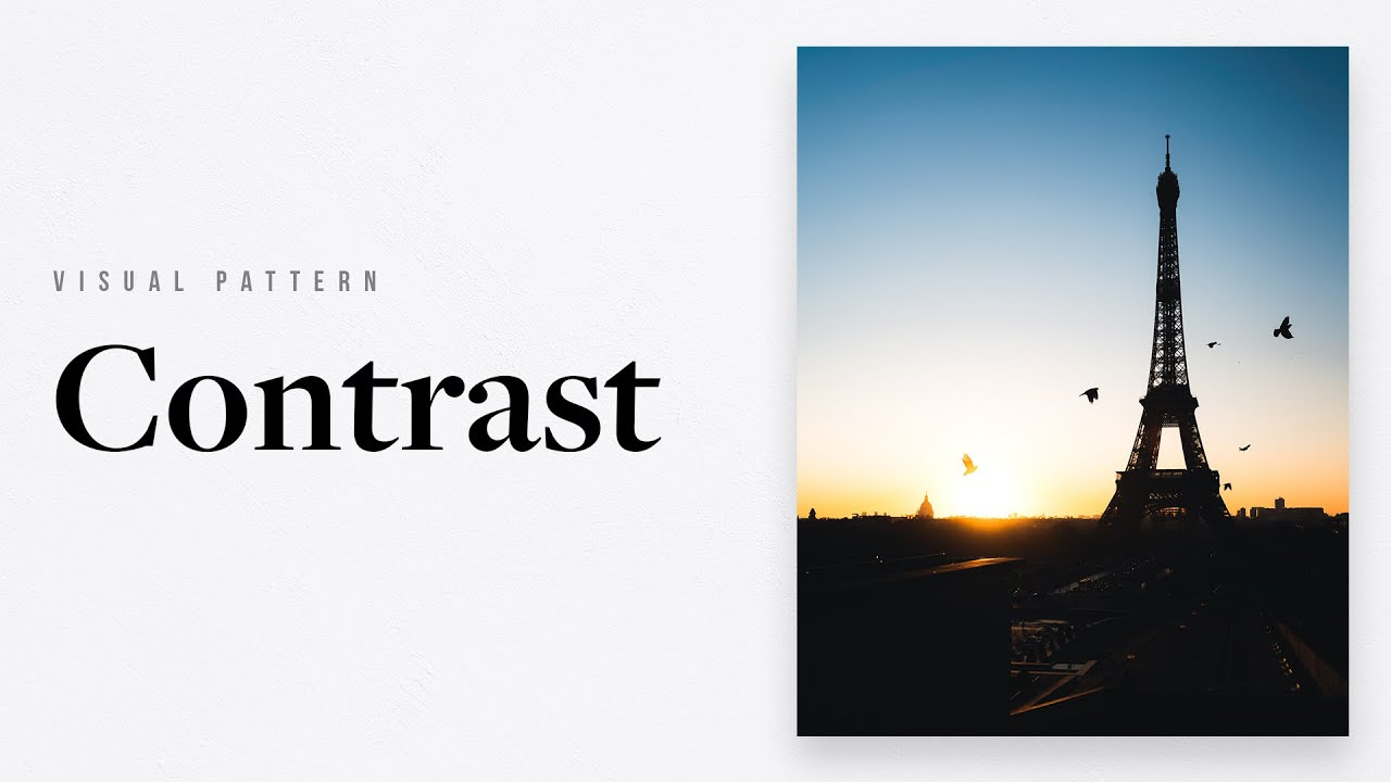 Contrast Isn't Just About Light And Dark — Photography Visual Patterns #5 - youtube