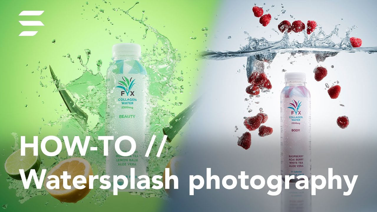 How to take stunning composited water splash product photography | Studio BTS - youtube